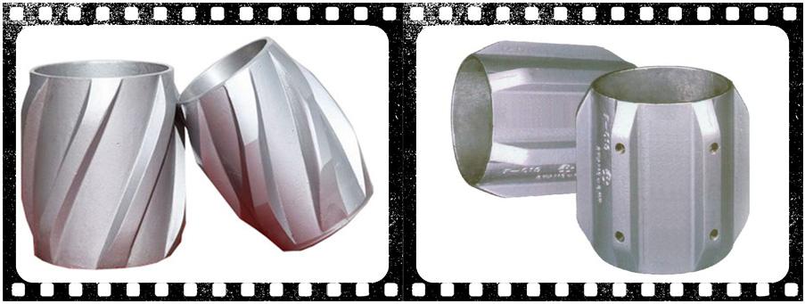 Aluminum Spiral Vane Solid Rigid Centralizer