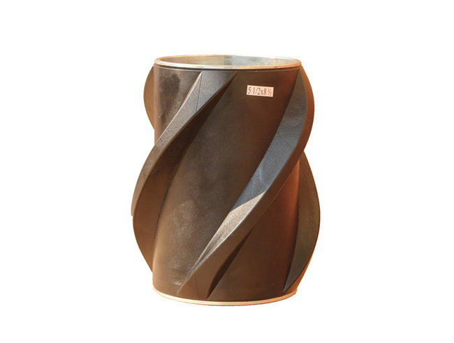 Composite centralizer is used during running and cementing operations to centralizer casing.